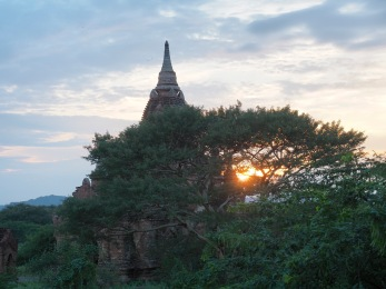 Sonnenuntergang am Ayeyarwaddy